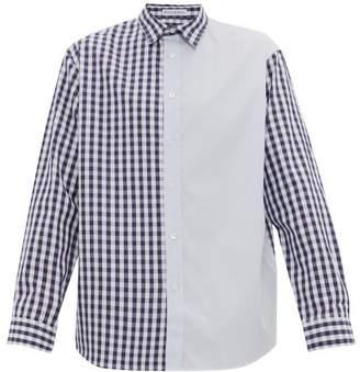 J.W.Anderson Gingham Cotton Poplin Shirt - Mens - Blue