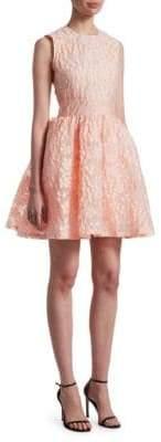 Maje Rex Lace Fit-&-Flare Dress