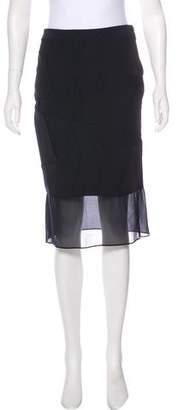 Nicole Miller Silk-Trimmed Pencil Skirt