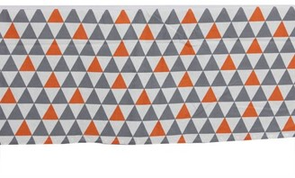 Bacati Triangles Orange/Grey Crib/Toddler Tailored with 100% Cotton Percale 13 inch drop Tailored with 100% Cotton Percale 13 inch drop Ruffles/Skirt