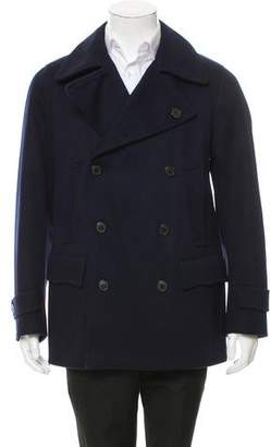 Dries Van Noten Wool Double-Breasted Peacoat w/ Tags