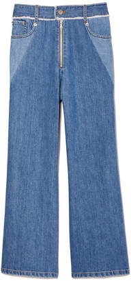 Sea Two-Tone Denim Pants