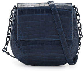 Nancy Gonzalez Crocodile Chain-Strap Saddle Bag