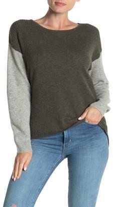Lynk Knyt & Colorblock Dolman Cashmere Sweater