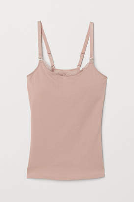 H&M MAMA Camisole with Shelf Bra - Pink
