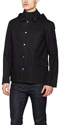 Gloverall Men's Short Mac Coat, Black, X-Large