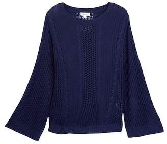 Splendid Loose Knit Pullover with Camisole Lining (Big Girls)