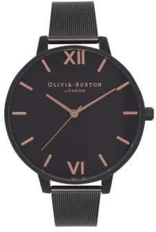Olivia Burton Analog After Dark Black IP Mesh Bracelet Watch