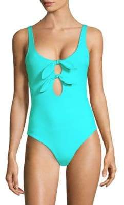 Mara Hoffman Maven Double Tie Front One-Piece Swimsuit