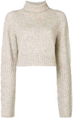 Diesel cropped roll neck jumper