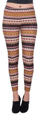 Aerusi Women's Spiced Latte Design Full Length Stretchy Leggings