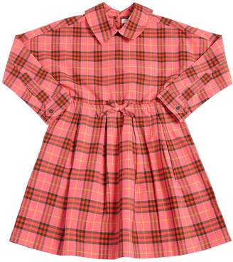 Burberry Check Cotton Poplin Dress