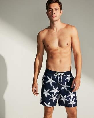 Express Starfish Print Board Shorts