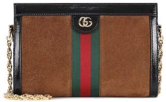 Gucci Ophidia GG Small suede shoulder bag
