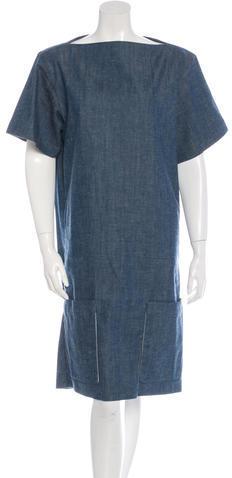 CelineCéline Short Sleeve Denim Dress