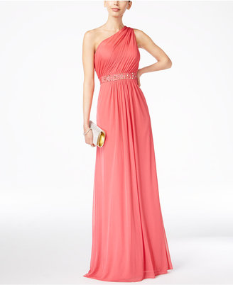 Adrianna Papell Embellished One-Shoulder Gown $189 thestylecure.com