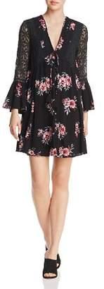 En Creme Lace-Inset Floral-Print Dress - 100% Exclusive