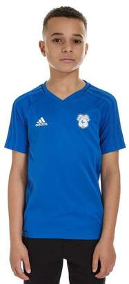 adidas Cardiff City 2017 Training Shirt Junior