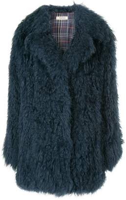 Yves Salomon Meteo oversized fur coat