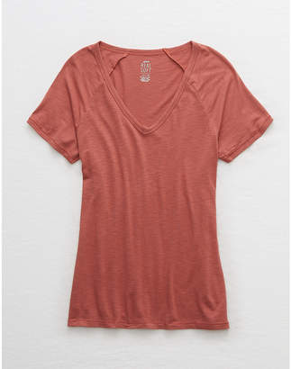 aerie V-Neck Real Soft Tee