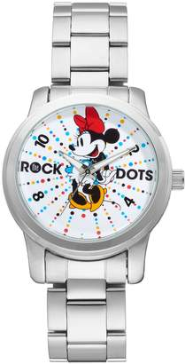 """Disney Disney's Minnie Mouse """"Rock the Dots"""" Women's Stainless Steel Watch"""