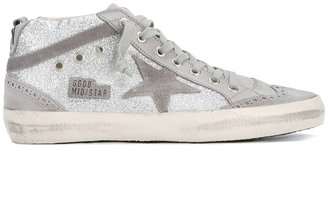 Golden Goose Deluxe Brand 'Mid-Star' glitter sneakers $515 thestylecure.com