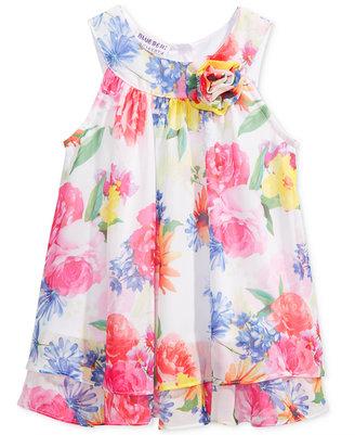 Blueberi Boulevard Floral-Print Chiffon Dress, Baby Girls (0-24 months) $50 thestylecure.com