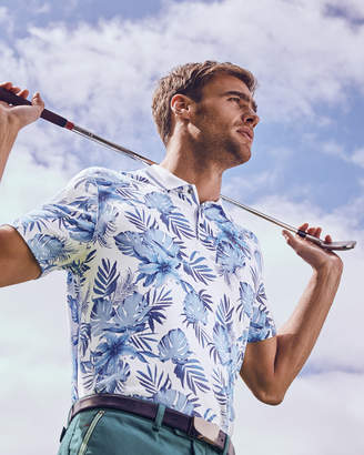 Ted Baker COURSE Floral print polo shirt