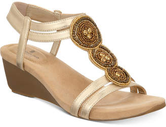 Bandolino Harman Embellished Wedge Sandals Women's Shoes