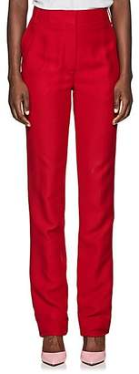 Valentino Women's Flared Silk-Wool Pants - Red
