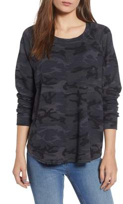 Sundry Camo Print Trapeze Sweatshirt