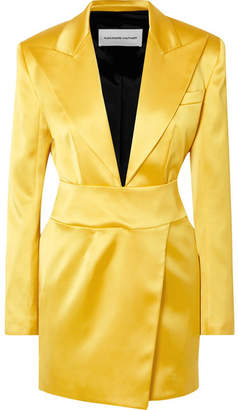 Alexandre Vauthier Stretch-satin Mini Dress - Yellow