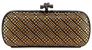 Bottega VenetaBottega Veneta Knot Studded Snakeskin Clutch Bag