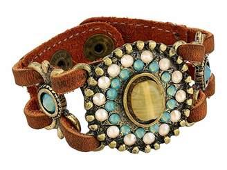 Leather Rock Pepper Bracelet