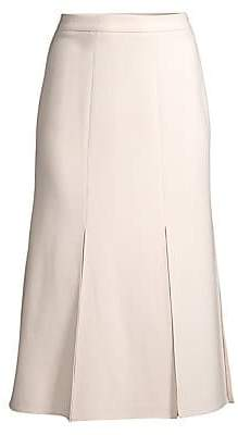 Max Mara Women's Road Sheer Insert Stretch Wool Midi Skirt