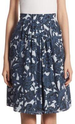 Burberry Dove Floral-Print Skirt