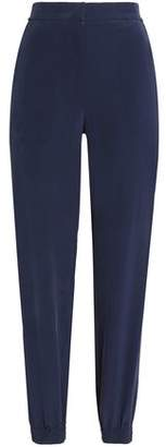 Cédric Charlier Silk Crepe De Chine Tapered Pants