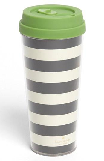 Kate Spade Stripe Thermal Travel Mug