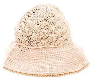 Burberry Raffia Buckle Hat