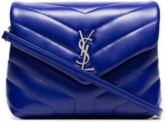 bcb2f671a8 at Farfetch · Saint Laurent blue monogram lou lou quilted leather shoulder  bag