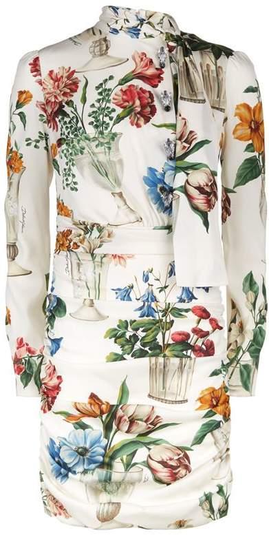 Floral Zebra Button Dress
