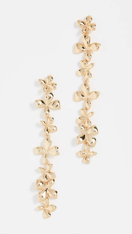 BaubleBar Metal Petals Flower Drop Earrings
