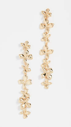BaubleBar Metal Petals Flower Drop Earrings