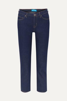 MiH Jeans Tomboy Cropped High-rise Slim Boyfriend Jeans - Dark denim