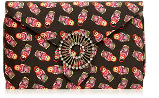 Wilbur & Gussie Charlie Russian Dolls Printed Silk Clutch Bag