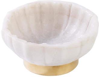 Mela Artisans Noor Decorative Bowl - White/Gold
