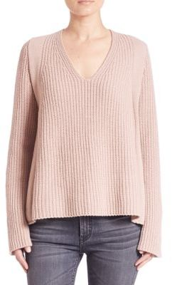 Helmut Lang V-Neck Wool Sweater $395 thestylecure.com