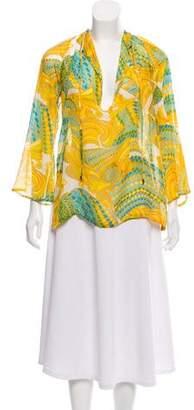 Trina Turk Printed Silk Tunic