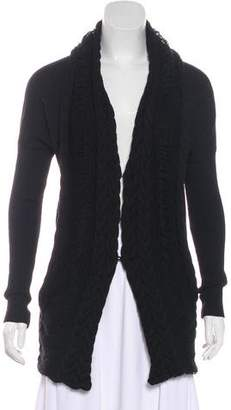 CNC Costume National Distressed Cable Knit Cardigan