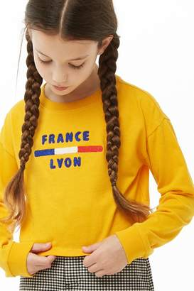 Forever 21 Girls France Graphic Top (Kids)